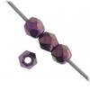 Fire polished 3mm Purple Iris